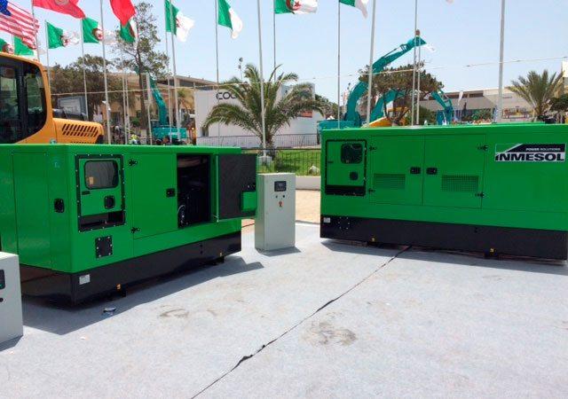 Mehrere Generatoren Inmesol, ausgestellt in der IAM der Sortimentgruppe für Notstromgeräte