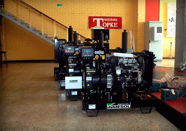 Mehrere Inmesol Stromaggeräte sind Bestandteil des Maschinenparks der Firma Maquinaria TOPKE