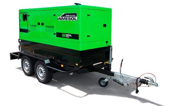 Stromaggregat des Mietsortiments auf einem Hochgeschwindigkeits-Anhänger (mobiles Kit)
