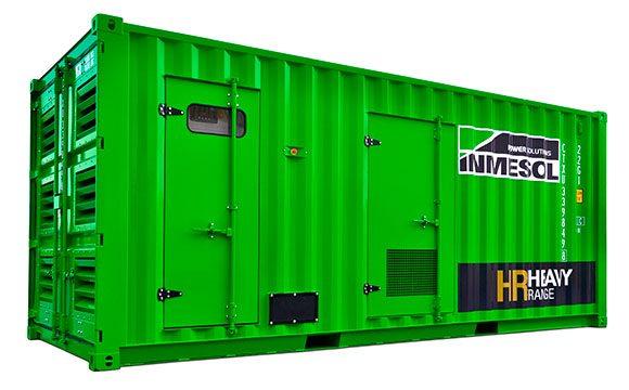Stromaggregat des Sortiments Schwere Geräte in einem superschalldichten Container
