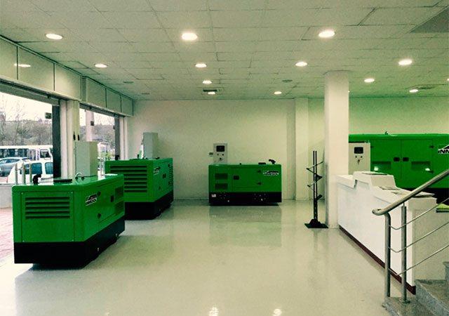 Stromaggregate von Inmesol in den neuen Anlagen von Sarl Obi