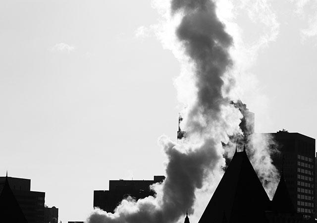 Emission von Schadstoffen in der Atmosphäre