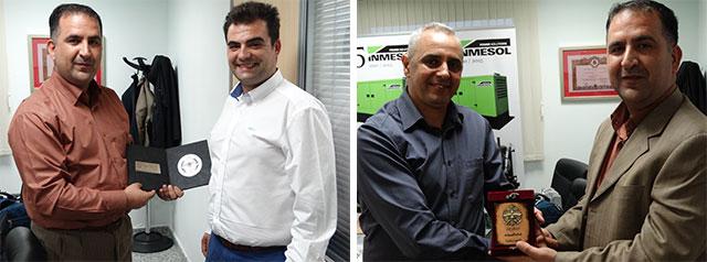 Mujeeb Khalaylah, Oberstleutnant des Sicherungsdienst in Jordanien zusammen mit Ramón Solano und Jalil Azdem