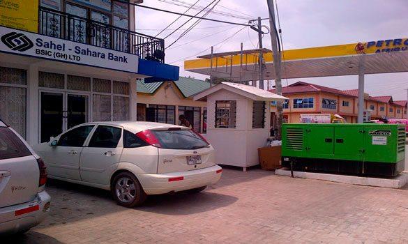 Das II-066 Model wurde installiert um als Ersatzversorger im Falle eines Ausfalls der Hauptversorgung Sahel-Sahara BSIC (GH) LTD Bank in GHANA zu dienen