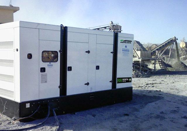 Generator im Einsatz im Bergbaubereich