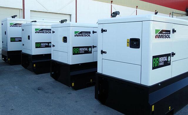 Miet-Stromaggregate parallel arbeitend