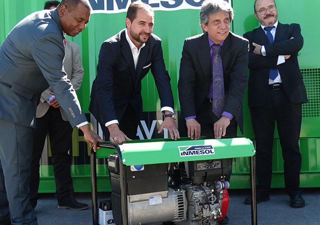 Konsul und Vizekonsul von Ecuador, Gustavo Mateus Acosta und Juan Valencia Quiñonez