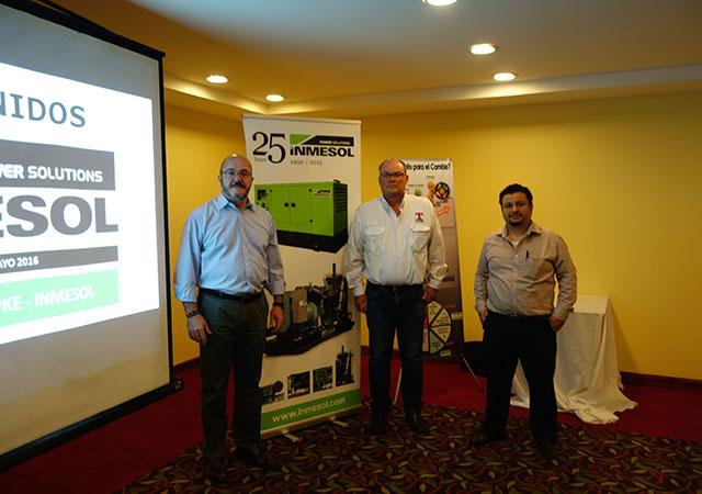 Luis Navarro aus Inmesol, Mr. Allan und Herr Rasch Topke Boris G. de Leon