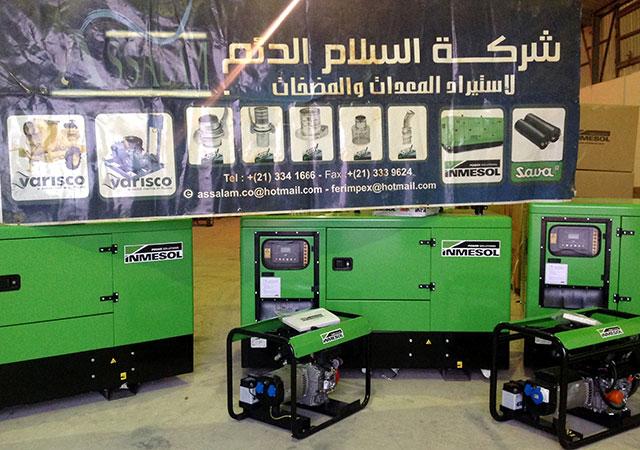 Die unter den industriellen Lieferprodukten ausgewählten Stromaggregate die Assalam Addaem vertreibt