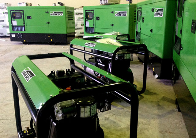 Generatoren mit verschiedenen Leistungen und verschiedener Bereiche in Einrichtungen von INMESOL SL