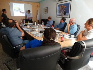 Theoretisches Training mit Manuel Azconegui. VOLVO PENTA