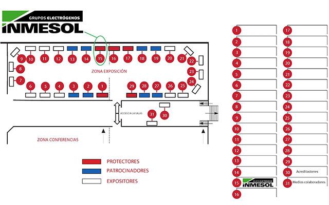 Lageplan: Ausstellungsgelände und Konferenzbereich