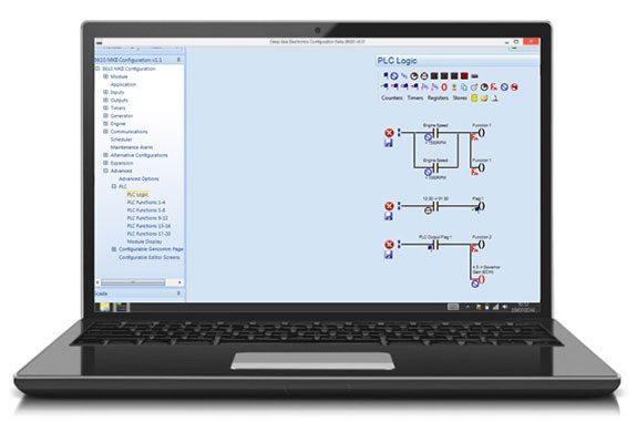 Beispiel eines Logikschemas für die SPS innerhalb der Konfigurations-Suite