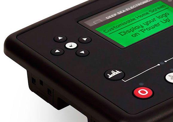 Das DSE73XX Steuermodul wurde mit einem anpassbarem Bildschirm ausgestattet