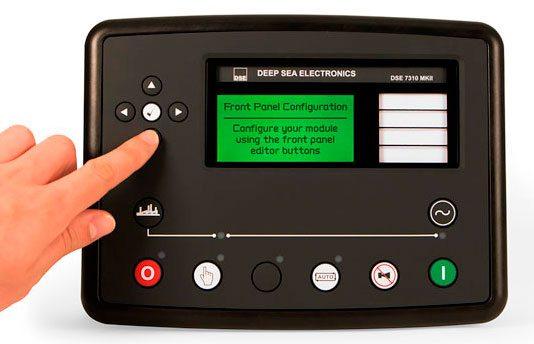 Elektronische Zentraleinheit DSE73XX, ausgestattet mit einem konfigurierbarem Bildschirm