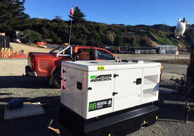 30 kVA PRP-Stromaggregaten auf der Gully Autobahn-Baustelle