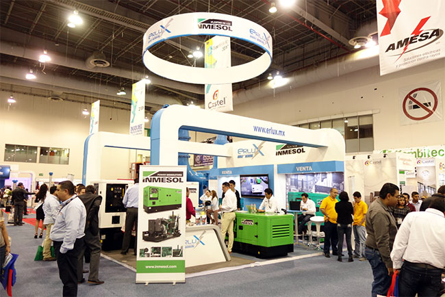 INMESOLs Stromaggregate, die auf der Expo Eléctrica Internacional 2017 präsentiert wurden
