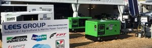 Der Stand von LEES GROUP Power Solutions bei den National Agricultural Fieldays, 2017