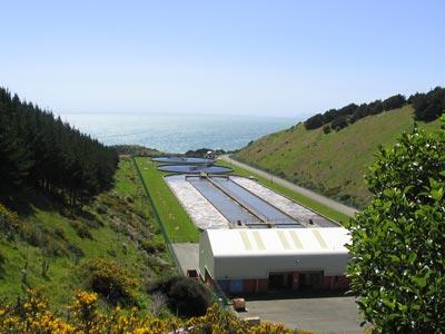 Abwasserbehandlungsanlagen in Porirua. Bildquelle: Webauftritt des Rates von Porirua