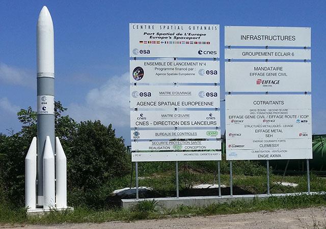 Europäisches Weltraumzentrum in Kourou bzw. Raumfahrtzentrum Guayana