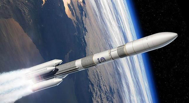 Infografik des Designs der Ariane 6