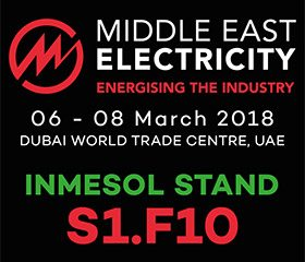 INMESOL auf der Middle East Electricity 2018 in Stand S1.F10INMESOL auf der Middle East Electricity 2018 in Stand S1.F10